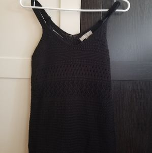 Asos Black Crochet Maxi Dress size